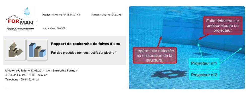 Expert en detection de fuite piscine