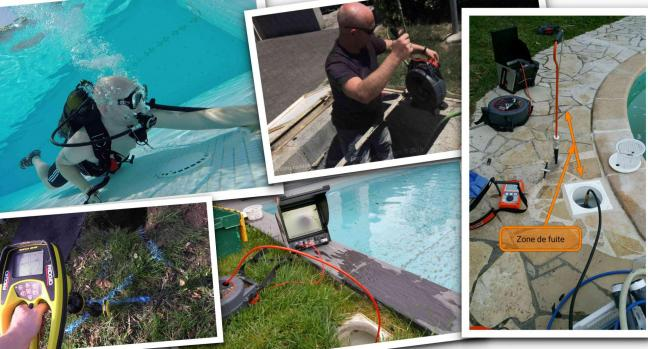 recherche de tous types de fuites sur piscine toulouse 31