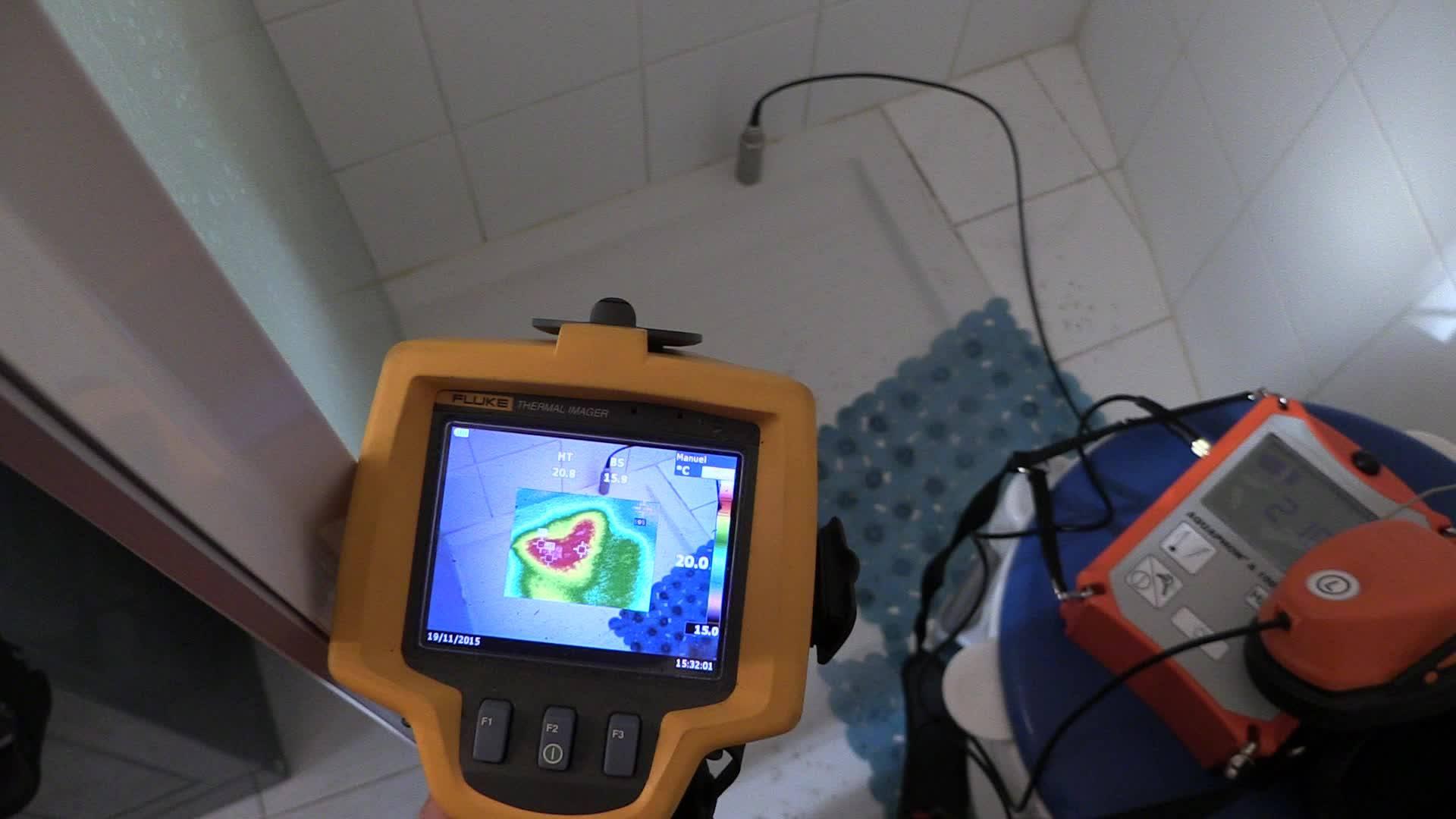 Recherche de fuites d'eau par caméra infrarouge