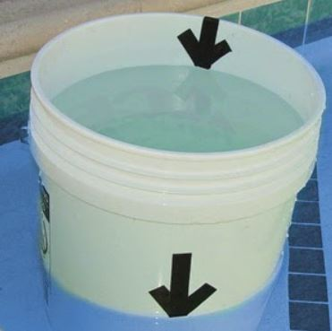 Test du seau piscine