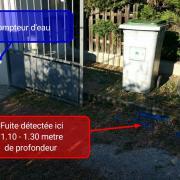 Recherche de fuite d'eau entre le compteur et l'habitation
