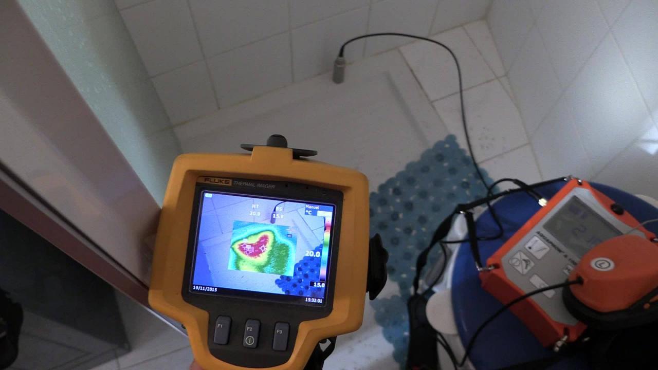 Recherche de fuites par caméra infrarouge