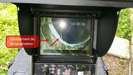 Diagnostic camera avant debouchage