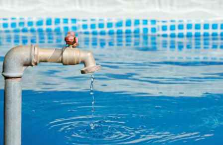 Remplissage piscine lors d'une fuite